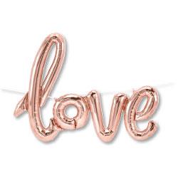 40P LOVE SCRIPT ROSE GOLD