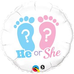 18P HE OR SHE FOOTPRINTS