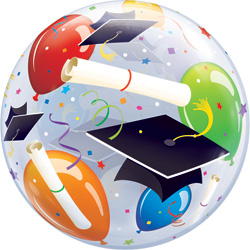 22P BUBBLE GRAD HATS & BALLOON