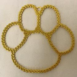 """4.25""""X4"""" RHNESTNE PAW GOLD(1)"""