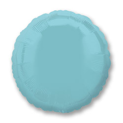 Irid Prl Lt Blue Decor Circle