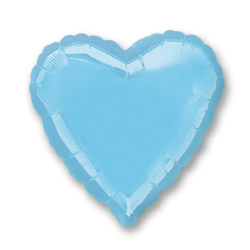 Irides Prl Lt Blue Decor Heart