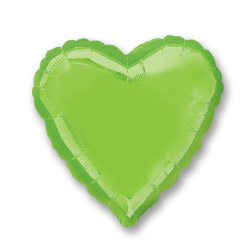 Irides Lime Green Decor Heart