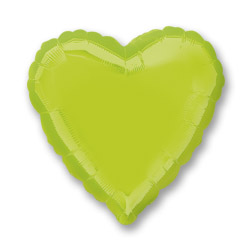 Kiwi Green Decorator Heart