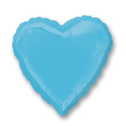 Caribbean Blue Decorator Heart