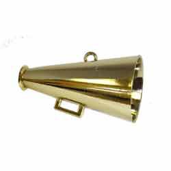 """2.5"""" MET MEGAPHONE GOLD (1)"""