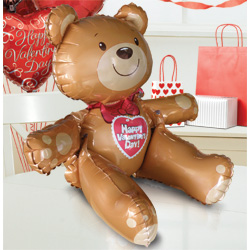 "19"" Valentine Sitting Bear"