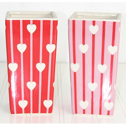 3X6 HEART & STRIPE VASE (6)