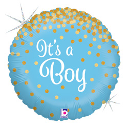 18B GLITTERING ITS A BOY (HOLO