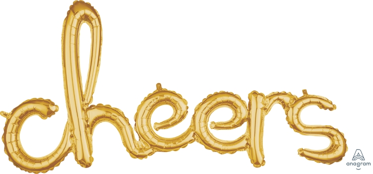 40A CHEERS SCRIPT GOLD