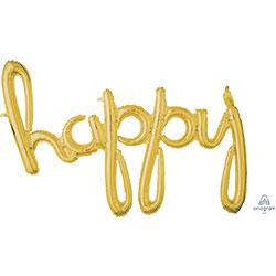 39A HAPPY SCRIPT GOLD