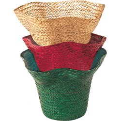 "6.5"" CHRISTMAS HAT BASKET (3)"