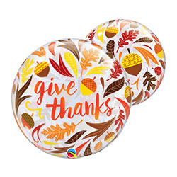 22P GIVE THANKS ACORN & LEAVES