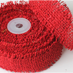 "1.5""X10YD JUTE RIBBON RED(1)"