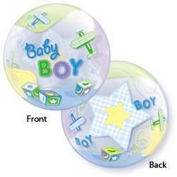 22P BABY BOY AIRPLANES-BUBBLE