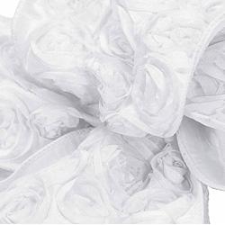"1.5""X10YD LOVE KNOTS NEW WHITE"
