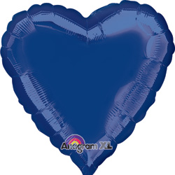 19A HEART NAVY