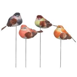 """2.25"""" FEATHERED BIRD PICK (12)"""