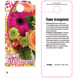 CARE TAG FLOWER ARRNGMT (100)