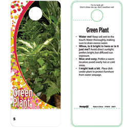 GREEN PLANT CARE TAG (100 PK)