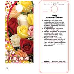 CARE TAG ROSE ARRNGMT (100 PK)