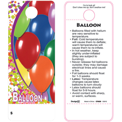 CARE TAG BALLOONS (100 PK)