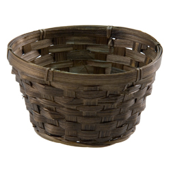 "6.5"" ROUND BASKET STAINED"