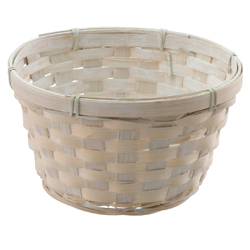 "6.5"" ROUND BASKET WHITEWASH"