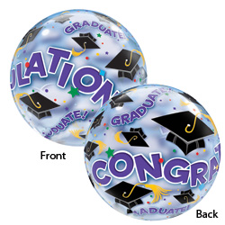 22P BUBBLE CONGRATS GRAD CAPS