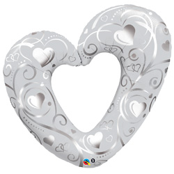 42P HEARTS FILIGREE PRL WHITE