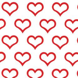 """24"""" X 24"""" CELLO BOLD HEARTS"""