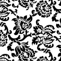 "24"" X 100' CELLO DAMASK BLACK"
