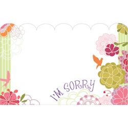 ENCL CARD - IM SORRY FLORAL