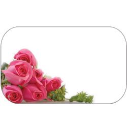 ENCL CARD PNK ROSES BLANK (50)