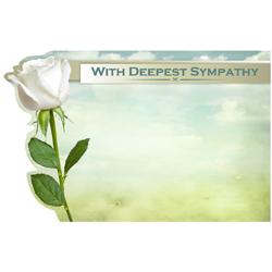 ENCL CARD DEEPEST SYMPATHY