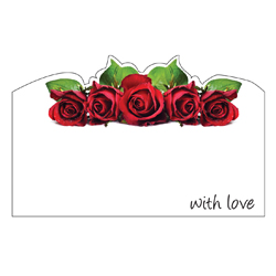 ENCL CARD WITH LOVE ROSES