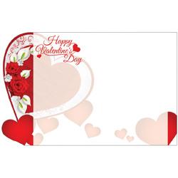 ENCL CARD HVD HEARTS & ROSES