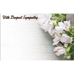 ENC CARDS WHITE ALSROMERIAS