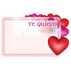 ENCL CARD TE QUIERO HEARTS